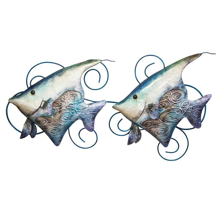 Banner fish with capiz shell wall decor fish wall decor