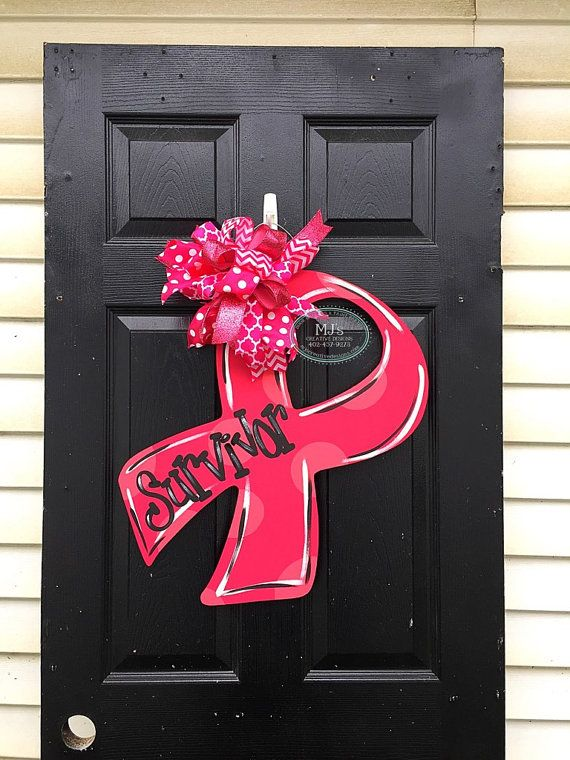 Breast Cancer Awareness Door Hanger Survivor by MJCreativeDesign
