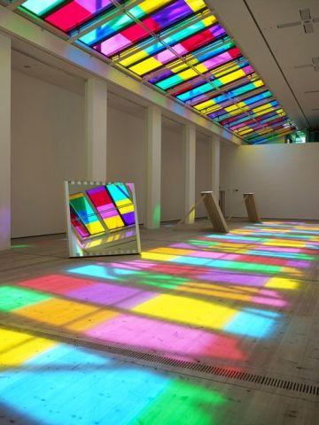 Catch as Catch Can by Daniel Buren - Frameweb #color #installation