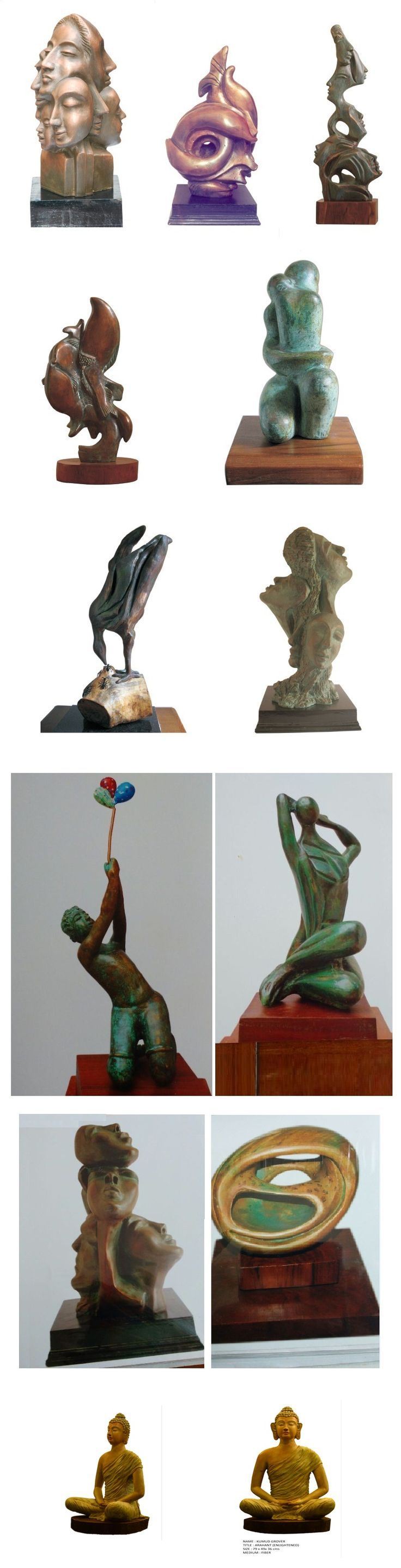 Kumud Grover – Artist Sculptor - India Sculptures - India Art Gallery -Sculpture Exhibition India –  http://indiaartgallery.in/artists/kumud-grover/