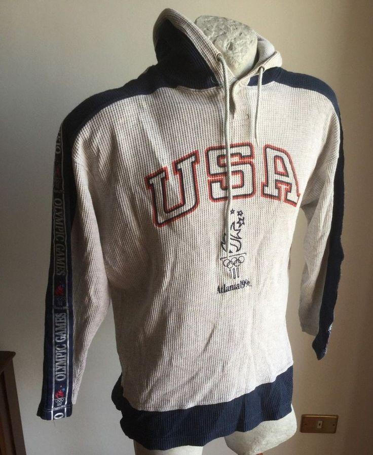 FELPA USA OLYMPIC TEAM ATLANTA 1996 CHAMPION XL VTG JACKET TRACKSUIT VESTE