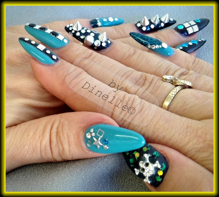 Heavy Metal Nails. LCN Colour Gels By Dinelle, Details Beauty Supply