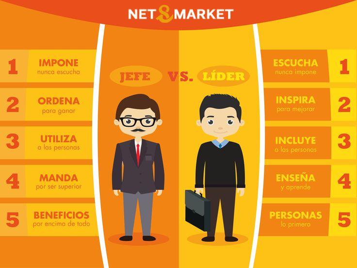 Infografía: Jefe VS. Líder, vía @netandmarket
