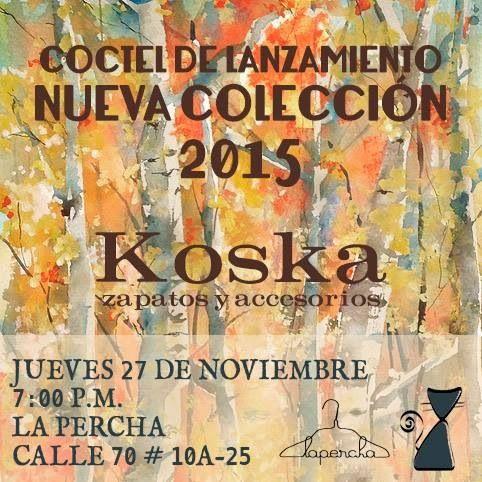 Lanzamiento nueva colección el 27 de noviembre en La Percha Bogotá. Calle 70 #10a-25, 7:00pm a 9:00pm