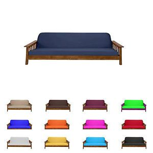 Futon Mattress Cover Solid Color Choose And Size Twin Full Queen