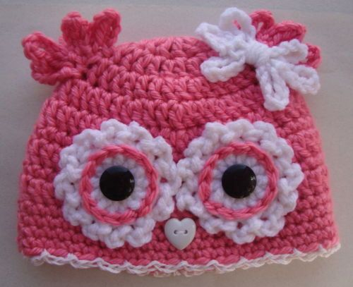 Sweet little hat!: Owl Crochet Hats Patterns, Baby Owl, Crochet Baby, Baby Girls, Baby Hats, Crochet Owl, Knits Owl Patterns, Owl Beanie, Owl Hats