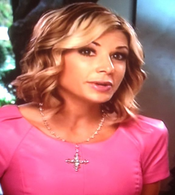 Alexis Bellino's Pink Interview Top / Dress http://www.bigblondehair.com/real-housewives/rhoc/alexis-bellino-2/