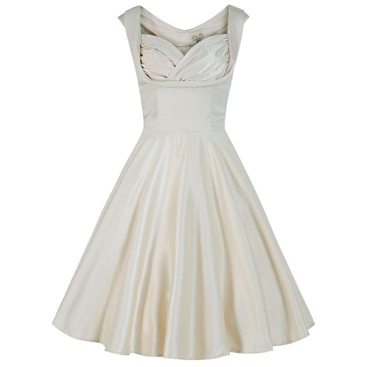 Olivia ivory swing dress vintage style dresses lindy for Lindy bop wedding dress
