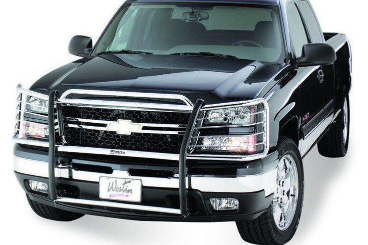 Westin 45-2110 Chevy Avalanche 1500 2007-2013 Sportsman Grille Stainless Single Hood Bar