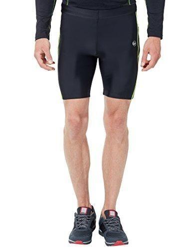 Oferta: 29.99€. Comprar Ofertas de Ultrasport 11041 - Pantalones cortos de correr para hombre, color negro / amarillo neón, talla M barato. ¡Mira las ofertas!