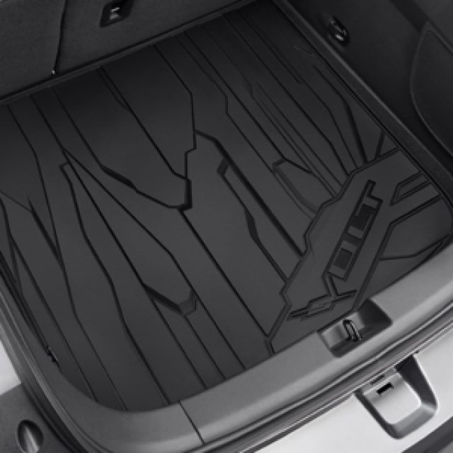 Cargo Area All Weather Mat In Black With Volt Logo Chevrolet