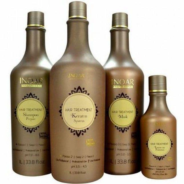 INOAR HAIR TREATMENT KIT CAUTERIZAÇÃO com 04 Produtos - cabelos instantaneamente recuperados, nutridos, com maciez e sedosidade. Brilho radiante e volume reduzido.