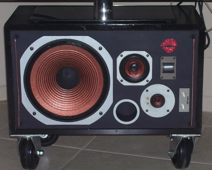 awesome idea to use old home stereo speakers i love the look
