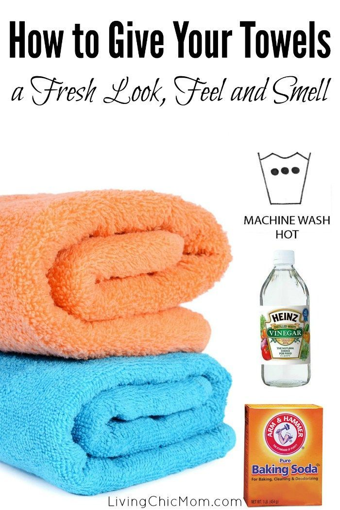 How to Give Your Towels a Fresh Look, Feel and Smell! - Living Chic Mom                                                                                                                                                     More