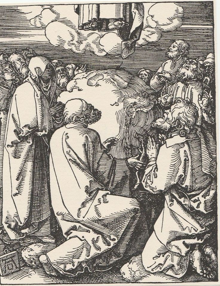 The Ascension - Small Passion Series Engraving After Albrecht Durer