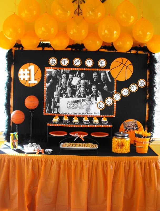 Basketball Banquet Centerpieces   Perfect Way To End A Great Season With A  Great Team!