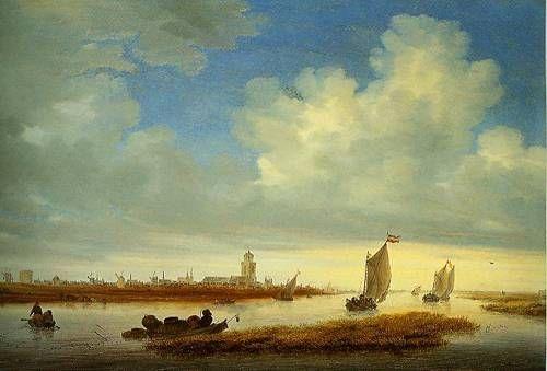 Salomon van Ruysdael (Dutch, c. 1600 - 1670) - A View of Deventer, 1657