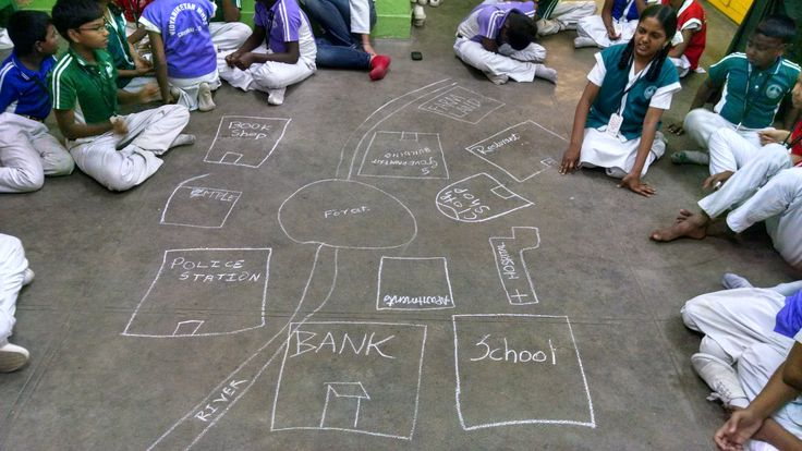 """When children are asked to build their own planet… In the first session in Chennai in the new year, we wanted to introduce the children at Vidyaniketan school about working in teams and wanted them to be more comfortable with disagreements and opinions. So we picked up a theme """"Build a Planet"""" which was closely related what we had already done with """"Build a School""""."""