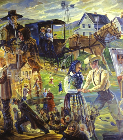 the history of amish and mennonite Persecution dispersed them to different parts of europe the first organized group of anabaptists arrived in america around the 1680s they settled in germantown pennsylvania, six miles north of philadelphia in 1709 a number of swiss mennonites colonized a portion of lancaster many mennonite families of swiss origin.