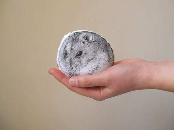 hamster soft toy siberian hamster portrait pet home by MosMea, €20.00