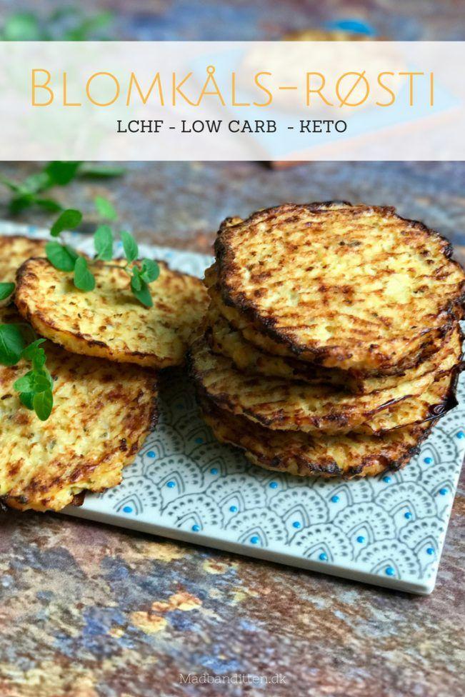 Blomkåls-røsti - den lækreste LCHF opskrift på røsti lavet med blomkål i stedet for kartoffel