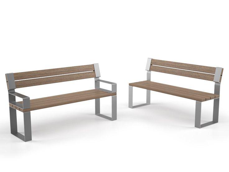 Descarga el catálogo y solicita al fabricante Eight   banco con respaldo By lab23, banco en acero y madera con respaldo diseño Studio Orange, Colección eight