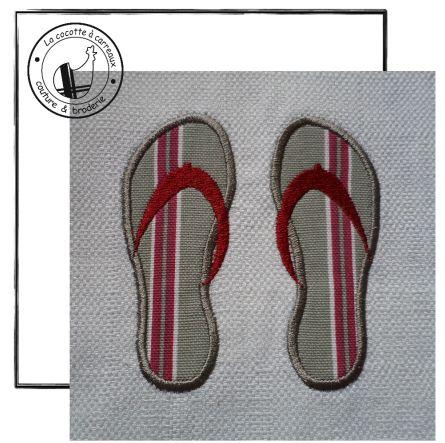 Broderie machine à télécharger - appliqué paire de tong