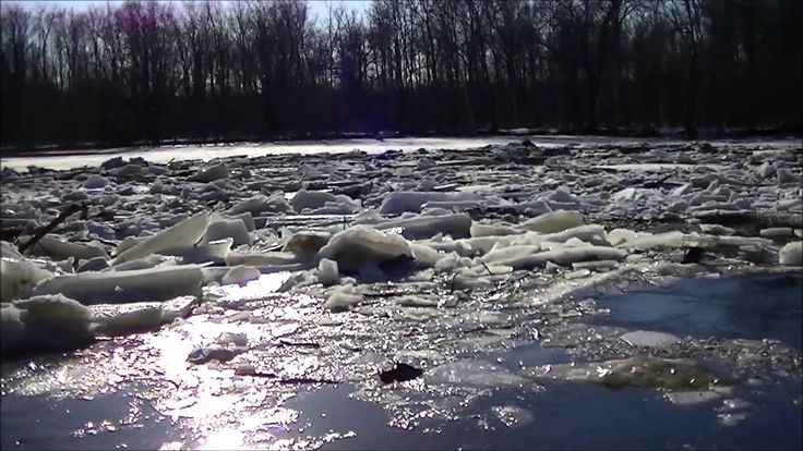 Ice Dam on Black River Ontario....Beginning of a Disaster?