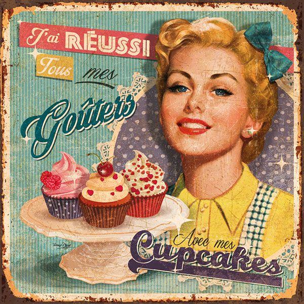 17 best ideas about vintage cupcake on pinterest pretty - Laminas y posters decorativos ...