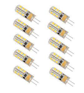 Minger 2.5W Ampoules LED G4, 180lm, Blanc Chaud(3000K), 20 Watt Équivalence Halogènes, 24 Pièces 2835 SMD LED Silice Eclairage Décoratif,…