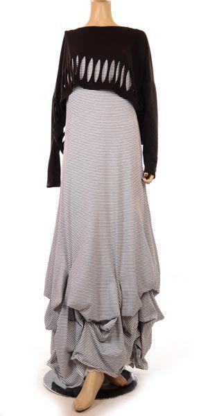 Funky Black Slash Lagenlook Overlay Top-lagenlook, womens plus size tops & shirts, ladies plus size clothing, Overlay top, shirt, european plus size designers, womens clothing