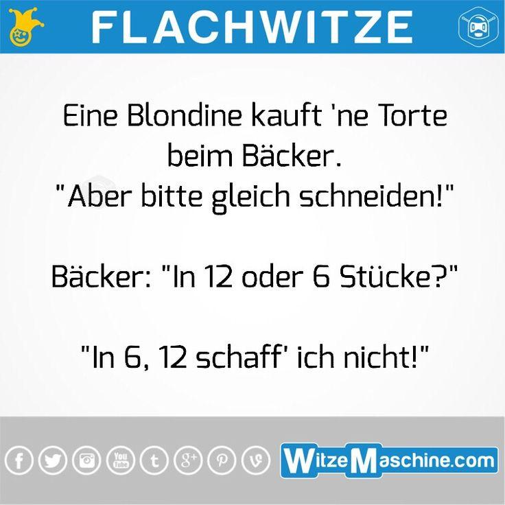 Flachwitze #185 - Blondine beim Bäcker
