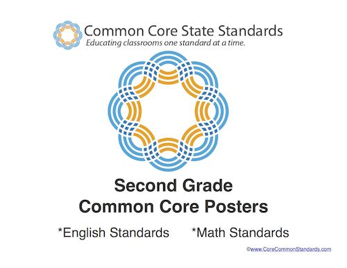 Second Grade Common Core Standards Posters - Common Core Standards | Common Core Activities, Worksheets, and Workbooks.