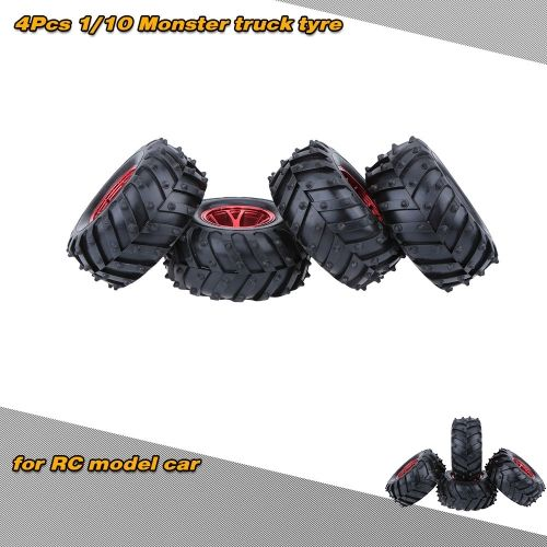 4Pcs/Set 1/10 Monster Tire Truck Tyres for Traxxas HSP Tamiya HPI Kyosho RC Model Car