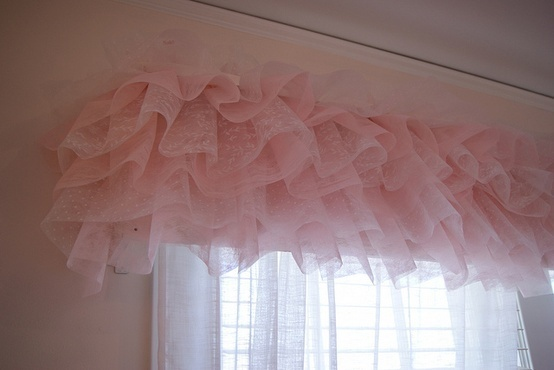 @Julie Davis - new spot for tutus!    Tutu curtain valance.is it wrong that i would do this in a different color for our room?