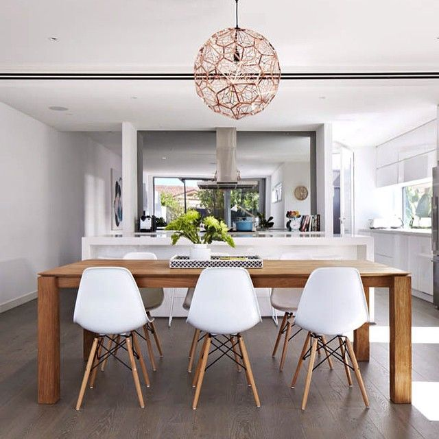 aimeeltstylist's photo on Instagram - ethnicraft table, jasper chairs from click on furniture, smokey grey mirror splashback from crystal interiors