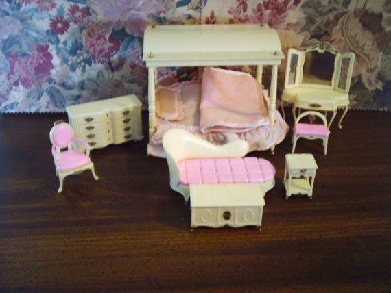 Little Hostess Dollhouse Bedroom Furniture Marx by TheBlueDaizy