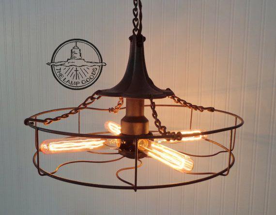 industrial lighting fixtures vintage. chandelier u0027rusty eleganceu0027 mixed media industrial by lampgoods 290 light fixture bare bulb industrial pendant vintage lighting fixtures