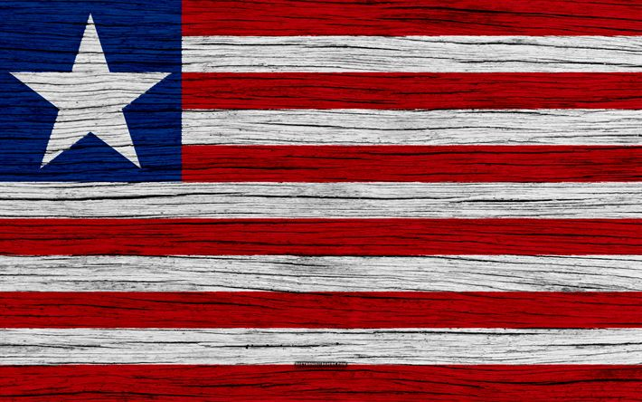 Download wallpapers Flag of Liberia, 4k, Africa, wooden texture, Liberian flag, national symbols, Liberia flag, art, Liberia