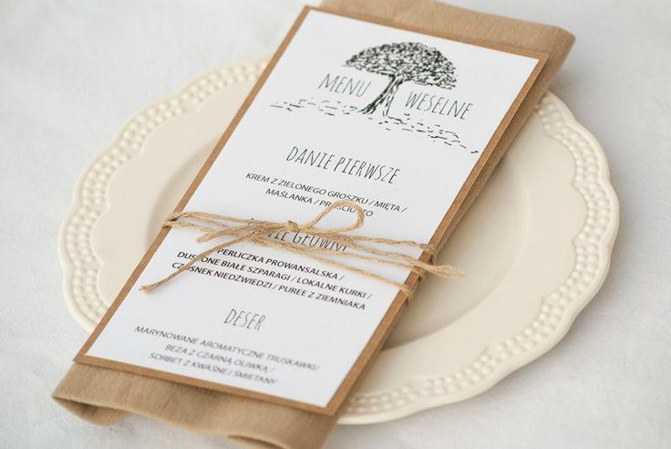 Zaproszenia ślubne - drzewo miłości