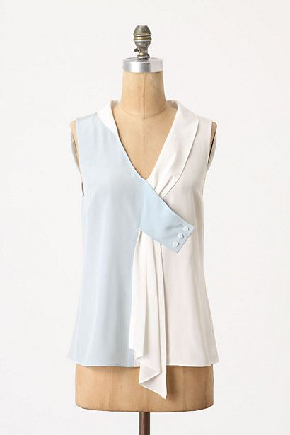 Drapey Dyad Tank #anthropologie