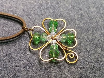 Four Leaf Clover Wire Work Pendant Tutorial