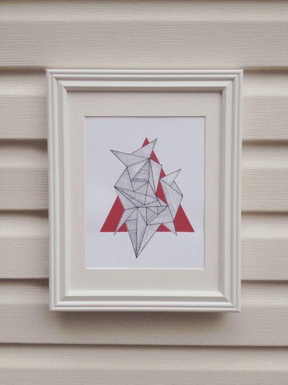 Geometric Triangle Screenprint- bensonbensonco.com