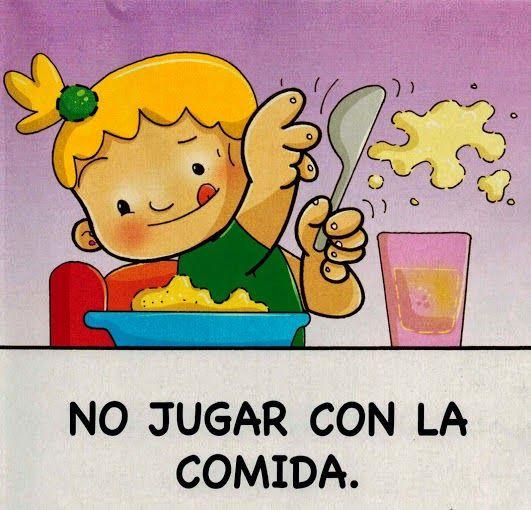 Maestra de infantil normas para comer en la mesa h bitos de alimentaci n e higiene baby - Agencias para tener estudiantes en casa ...