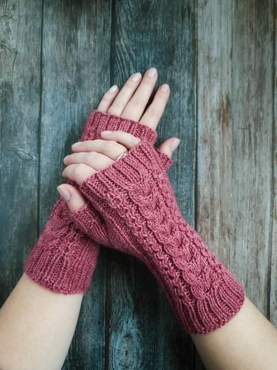 Long Gloves Wool handwarmers Fingerless gloves Alpaca hand warmers Knitted Gloves Winter Accessories Arm Warmers Hand Warmers