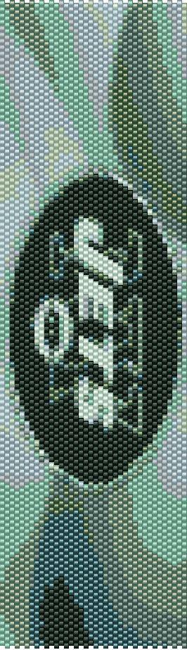 NFL New York Jets Peyote Bracelet Pattern by CKFJewelryDesigns