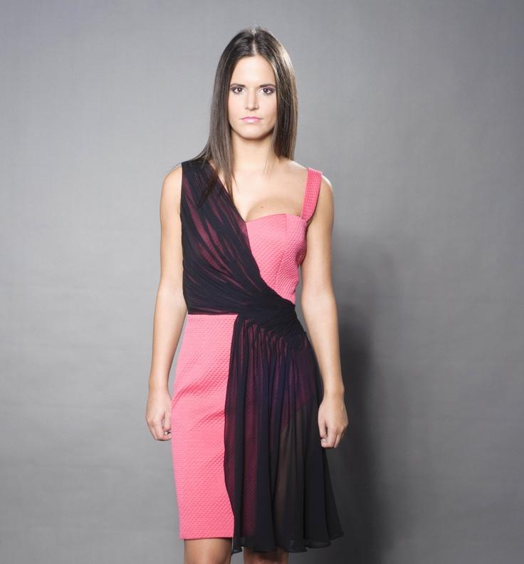 Valentino fabric dress with silk chifon