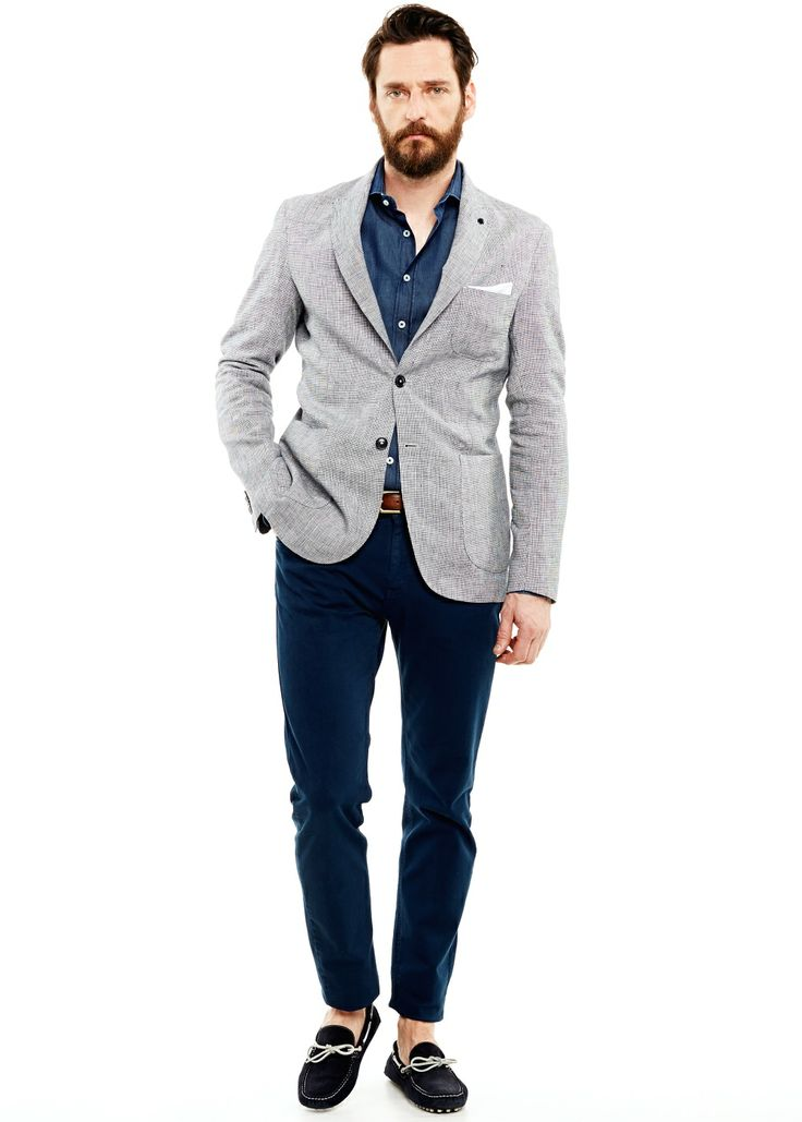 HE BY MANGO - Houndstooth linen blazer #SS14 #Menswear