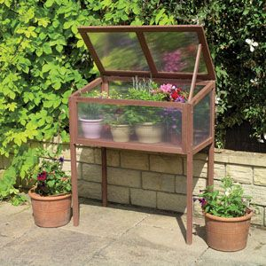 mini raised greenhouse. #DIY