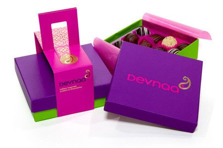 Devnaa indian confectionery, designed by Honey Creative